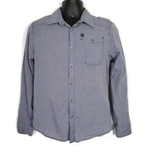 G-Star Men's Slim Raw Connect Button Front Shirt
